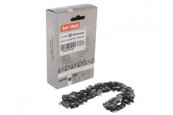 Цепь пильная Hammer Flex 401-936 3/8-1.1мм-46 шина пильная echo 20 3 8 1 5 72 звена s50r73 72aa et
