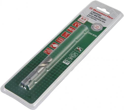 Сверло HAMMER Flex 202-838 DR MT STUB 8,0мм*60 мм металл, УКОР. для БЗП, DIN338, HSS6542 men s electric shaver usb rechargeable electric shaver beard knife reciprocating
