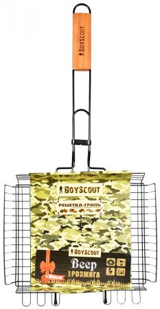 BOYSCOUT Решетка-гриль универсальная с антипригарным покрытием 62 5x30x25x5,5cм