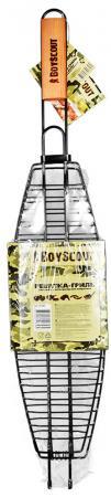 BOYSCOUT Решет-гр. для рыбы большая с антипригарным покрытием 65x42x8-15x35