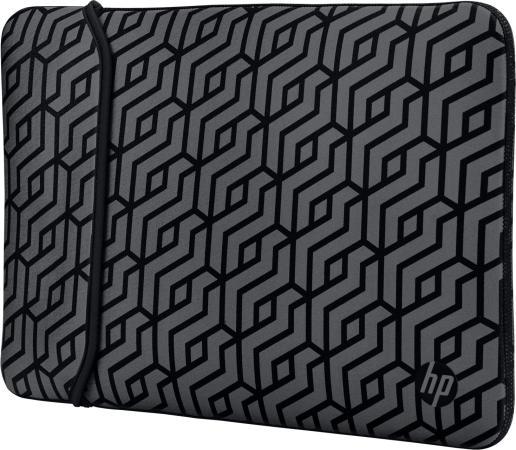 Чехол для ноутбука 14 HP 2TX16AA неопрен серый черный чехол для ноутбука 15 6 hp 2uf60aa неопрен черный золотистый