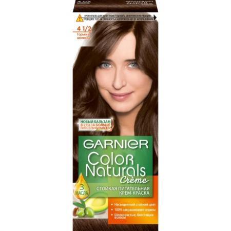 GARNIER Краска для волос Color Naturals 4 1/2 Горький шоколад garnier краска для волос color naturals 7 капучино