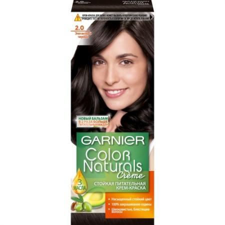 GARNIER Краска для волос Color Naturals 2 Элегантный черный garnier краска для волос color naturals 7 капучино