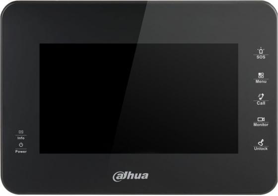 IP монитор видеодомофона Dahua DH-VTH1560B 7 800x480 4Gb черный видеодомофон dahua dh vth1560b черный