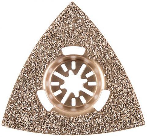Полотно для МФИ Hammer Flex 220-023 MF-AC 023 шлифпластина треугольная, 79мм, керамика полотно для мфи hammer flex 220 023 mf ac 023 шлифпластина треугольная керамика 79 мм