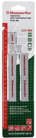 Полотно для сабельных пил Hammer Flex 225-006 S1122VF 225x19x0.90мм дер/мет/пласт (2шт) multidom штопор синий пласт мет упак