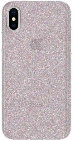 Накладка Incipio Design Series Classic - Multi-Glitter для iPhone X IPH-1651-GLTR glitter criss cross design sandals