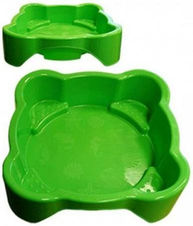 Песочница-бассейн PalPlay квадратная 374/green