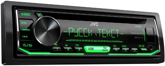 Автомагнитола JVC KD-R497 USB MP3 CD FM RDS 1DIN 4x50Вт черный