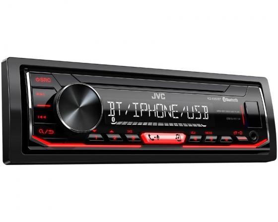Автомагнитола JVC KD-X352BT USB MP3 FM RDS 1DIN 4x50Вт черный автомагнитола kenwood kmm 103ry usb mp3 fm rds 1din 4х50вт черный