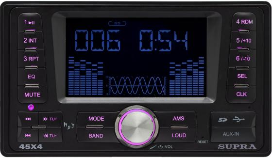 Автомагнитола Supra SFD-2020DD USB MP3 FM 2DIN 4x45Вт черный usb автомагнитола supra sfd 40u
