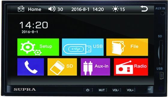 Автомагнитола Supra STM-71 USB MP3 FM 2DIN 4x45Вт черный автомагнитола supra swd 607nv