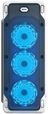 Корпус ATX GameMax Starlight Без БП белый синий корпус atx gamemax starlight b blue без бп синий чёрный