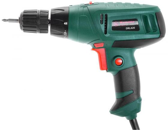 Дрель-шуруповёрт Hammer DRL420 280Вт дрель шуруповерт hammer drl400a 280вт