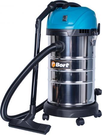 Промышленный пылесос BORT BSS-1630-SmartAir сухая влажная уборка чёрный синий