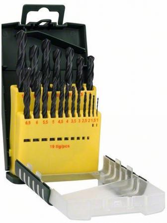 Набор сверел Bosch HSS-R 19шт 2607017151 набор сверл по металлу 19 предметов bosch diy hss r 2607017151