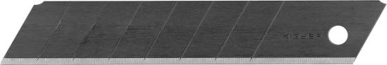 где купить Лезвия Зубр Эксперт Вороненые сегментированные улучш инструмент сталь У12А 8 сегментов в боксе 18мм 10шт 09715-18-10 дешево