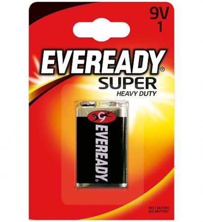 ENERGIZER Батарейка солевая Eveready Super 6F22 тип 9V 1шт uni t ut33c 2 0 lcd digital multimeter red black 1 x 9v 6f22