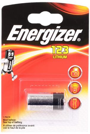 ENERGIZER Батарейка Lithium для фотоаппаратов 123 1шт аккумуляторы для фотоаппаратов