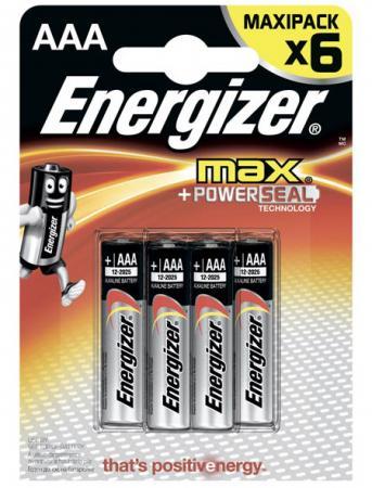 ENERGIZER Батарейка алкалиновая MАХ LR03/E92 тип ААА 6шт