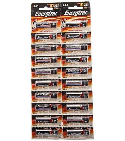 ENERGIZER Батарейка алкалиновая Power LR6/E91 тип АА 20шт батарейка energizer maximum lr6 e91 fsb2 aa
