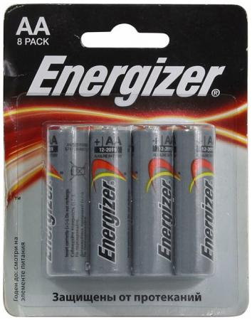 ENERGIZER Батарейка алкалиновая MАХ LR6/E91 тип АА 8шт батарейка energizer maximum lr6 e91 fsb2 aa