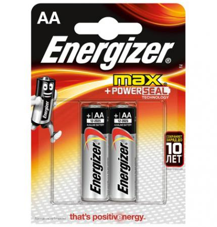 ENERGIZER Батарейка алкалиновая MАХ LR6/E91 тип АА 2шт батарейка energizer maximum lr6 bp2 2шт в блистере
