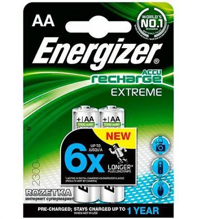 ENERGIZER Аккумулятор Extreme тип АА 2300mAh 2шт аккумулятор energizer extreme тип аа 2300 mah блистер 2шт