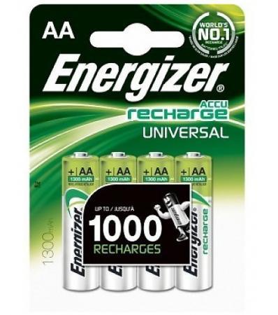 ENERGIZER Аккумулятор Universal тип АА 1300mAh 4шт аккумулятор energizer extreme тип аа 2300 mah блистер 2шт