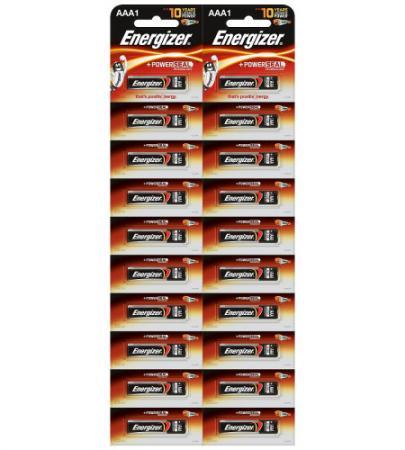 ENERGIZER Батарейка алкалиновая Power LR03/E92 тип ААА 20шт батарейка energizer alkaline power aaa алкалиновая 8 шт
