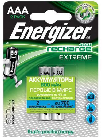 ENERGIZER Аккумулятор Extreme тип ААA 800mAh 2шт energizer аккумулятор extreme тип аа 2300mah 2шт