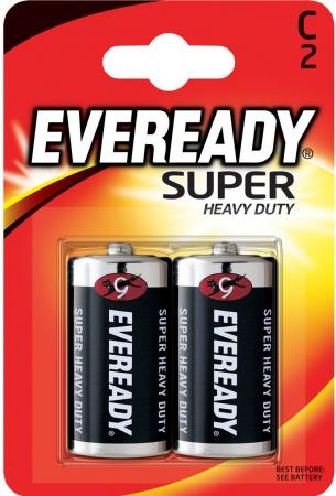 ENERGIZER Батарейка солевая Eveready R14 тип C 2шт батарейки energizer carbon zinc eveready c r14 2шт 638772