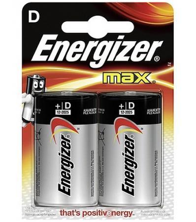 ENERGIZER Батарейка алкалиновая MАХ HR20/E95 тип D 2шт батарейка energizer alkaline power aaa алкалиновая 8 шт