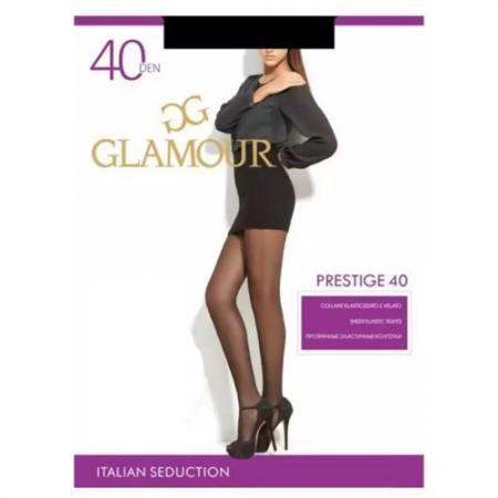 Колготки GLAMOUR Prestige 2 40 den черный колготки 20 den коньяк argentovivo колготки 20 den коньяк