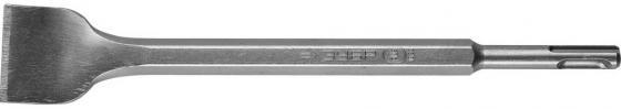 Зубило ЗУБР 29364-40-250 ПРОФЕССИОНАЛ плоское изогнутое для перф. SDS+ 40x250мм зубило зубр 29362 20 250
