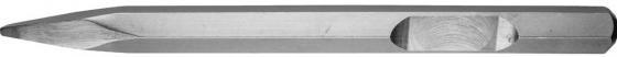 Зубило ЗУБР 29376-00-400 ПРОФЕССИОНАЛ пикообразное для молотков HEX 28мм 400мм зубило зубр 29233 40 250