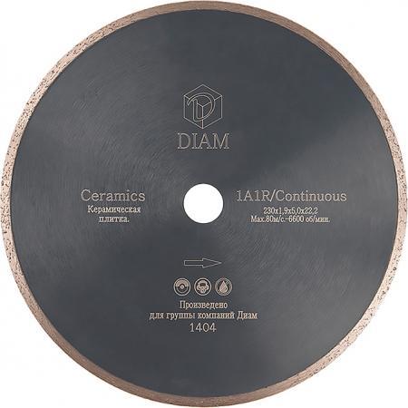 Круг алмазный DIAM Ф115x22мм 1A1R CERAMICS 1.6x5мм по керамике