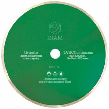 Круг алмазный DIAM Ф125x22мм 1A1R GRANITE 1.6x7мм по граниту