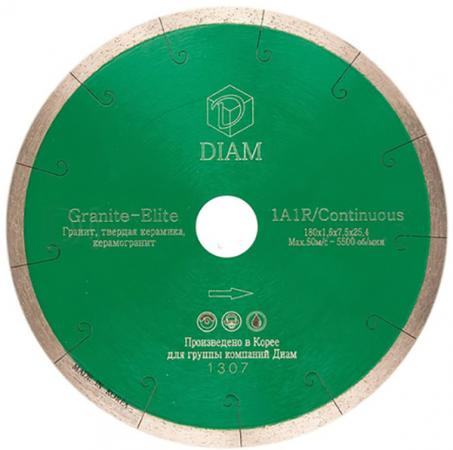 Круг алмазный DIAM Ф180x25.4мм 1A1R GRANITE-ELITE 1.6x7.5мм по граниту