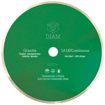 Круг алмазный DIAM Ф200x25.4мм 1A1R GRANITE 1.6x7мм по граниту