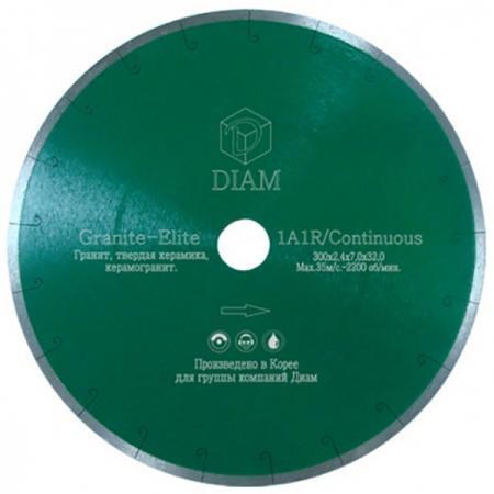Круг алмазный DIAM Ф250x25.4мм 1A1R GRANITE-ELITE 1.6x7.5мм по граниту