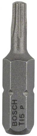 Бита BOSCH EXTRA-HART T15 25 мм, 3 шт. (2.607.001.607) 3шт. бита магнитная jettools torx t15 25 мм 2 шт