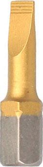 Бита Hammer Flex 203-139 PB SL-1,2*6,5 25мм TIN, 1шт. батарейки sony 337 sr416swn pb 1шт