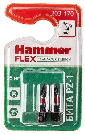 Бита Hammer Flex 203-170 PZ-1 25мм, 2шт. бита hammer pb pz 1 pz 1 50мм 2шт
