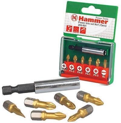 Набор бит Hammer Flex 203-901 PB набор No1 Ph/Pz/Sl 7шт. набор сверел hammer flex 202 901 dr set no1 5pcs 4 10mm металл 5шт