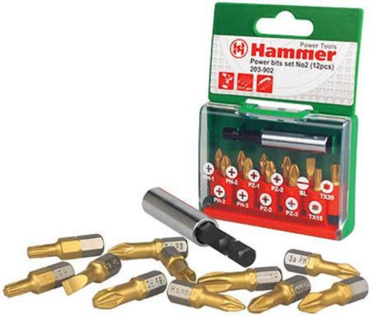 Набор бит Hammer Flex 203-902 PB набор No2 Ph/Pz/Sl/Tx 12шт. бур hammer 201 902 dr sds set no2 6pcs 5 6 8 x 110 6 8 10 x 160