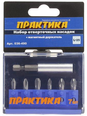 Набор бит ПРАКТИКА 036-490 Ph/Pz - 6шт.+держатель набор бит практика 036 506036 506 ph pz ls 6шт держатель href