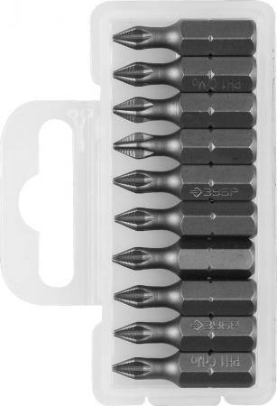 Бита ЗУБР МАСТЕР 26001-1-25-10 кованая CrMo C 1/4 PH1 25мм 10шт бита nox 556511 1 4 шестигран 4 0 25мм