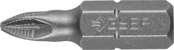 Бита ЗУБР МАСТЕР 26003-1-25-2 кованая CrMo C 1/4 PZ1 25мм 2шт бита nox 556511 1 4 шестигран 4 0 25мм