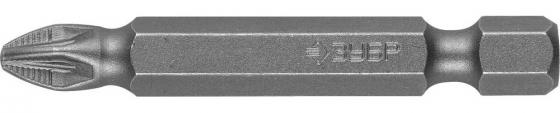 Бита ЗУБР МАСТЕР 26003-2-50-2 кованая CrMo E 1/4 PZ2 50мм 2шт бита зубр эксперт 26013 2 100 1 торсион кованая обточ crmo e 1 4 pz2 100мм 1шт
